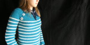 Easy crochet star stitch sweater: Marin d'Odouce, crochet pattern by Sylvie Damey