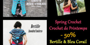 spring crochet patterns at 50% off by Sylvie Damey