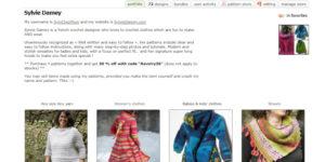 Crochet patterns on Ravelry, designed by Sylvie Damey